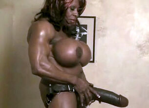 Voluptuous black woman